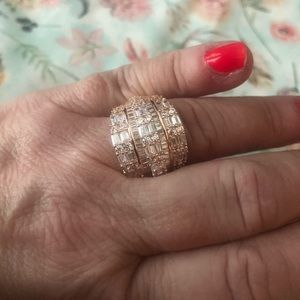 BNWOT women's rose gold over SS band